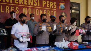Polres Mojokerto Gagalkan Penyelundupan Sabu Senilai Ratusan Juta Dari Aceh