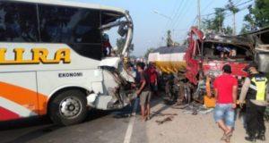bus mira, kecelakaan bus mira, kecelakaan, jombang, kecelakaan jombang